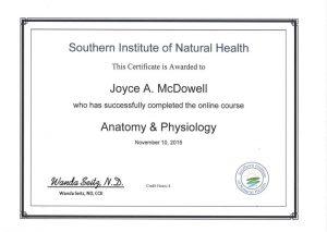 2015 Nov Anatomy and Physiology course jpeg