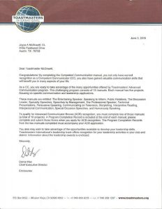2016 6 3 Toastmasters letter