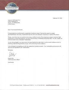 2020 2 14 Toastmasters letter